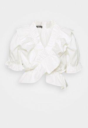 NAIMA FRILL  - Print T-shirt - offwhite