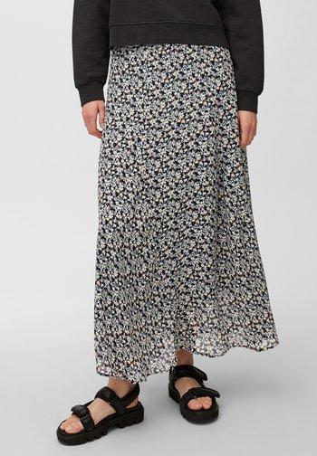 A-line skirt - blue / red / beige