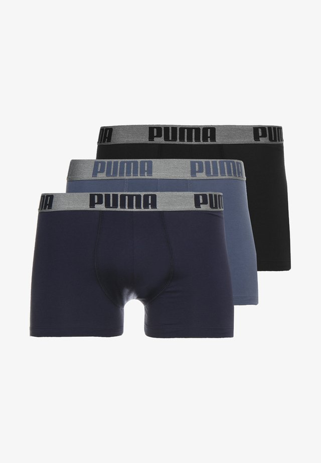 3 PACK - Pants - blue/black