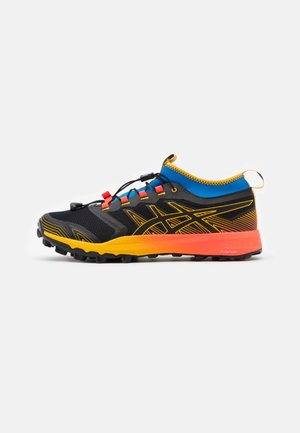 FUJITRABUCO PRO - Trail running shoes - black/saffron