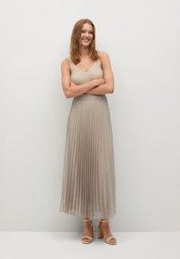 Mango - BREEZE-A - Pleated skirt - beige - 1