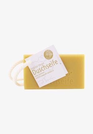 DUSCHSEIFE MIT SCHAFMILCH ZIRBEL MANDELÖL UND KORDEL 120 G  - Soap bar - -