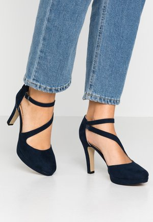 High Heel Pumps - navy