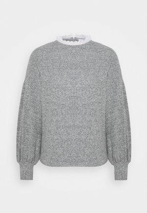 NECK TRIM BRUSHED - Jumper - grey