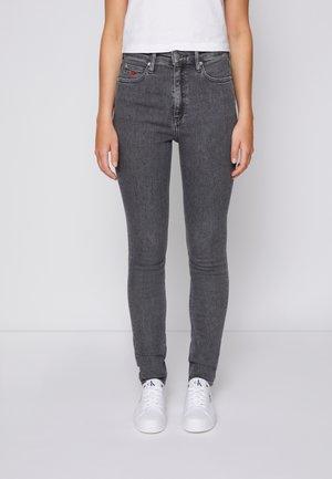 HIGH RISE SKINNY - Jeans Skinny Fit - denim grey