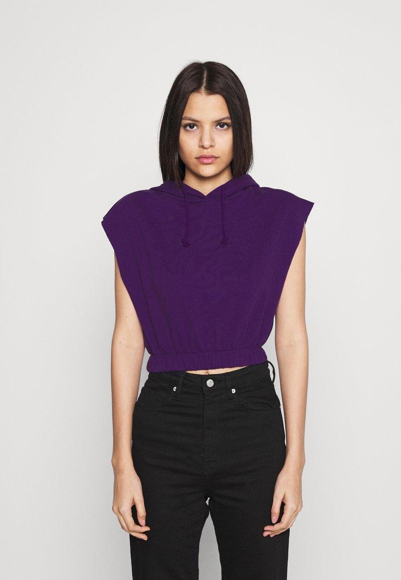 Topshop - HOOD - Print T-shirt - purple