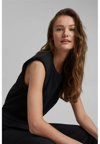 Esprit Collection - PADDED TEE - Basic T-shirt - black - 5