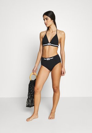 CORE RESET HIGH WAIST - Bikini bottoms - black