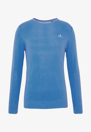 C NECK - Sweter - pacific blue