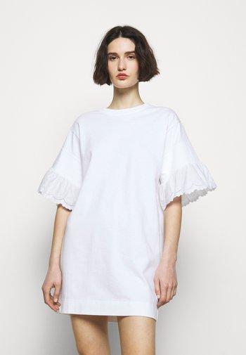 Jersey dress - white powder