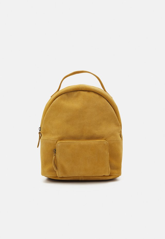 LEATHER - Rucksack - mustard yellow