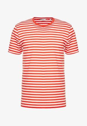 ONSJAMIE LIFE SS STRIPE REG TEE NOO - T-shirt print - high risk red