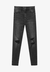 Stradivarius - Jeans Skinny Fit - black denim - 4
