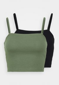 Even&Odd - 2 PACK - Top - green/black
