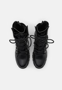 Missguided - LACE UP EYELET - Lace-up ankle boots - black - 5