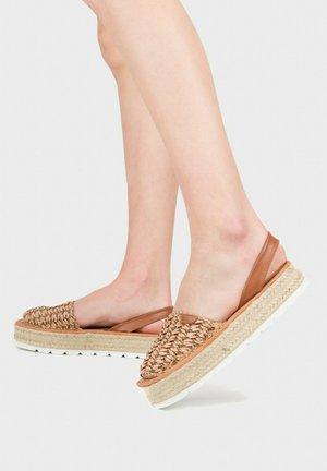 MENORCAN - Platform sandals - cuir