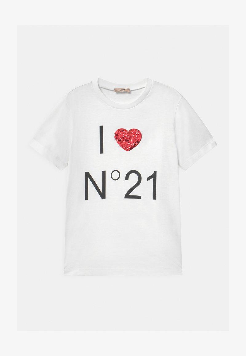 N°21 - MAGLIETTA UNISEX - Print T-shirt - white