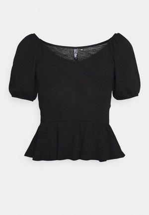 PCTENZIN - Basic T-shirt - black