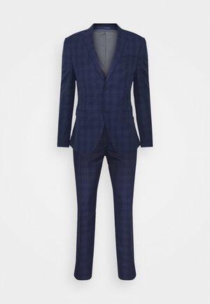 CHECK SUIT - Oblek - blue