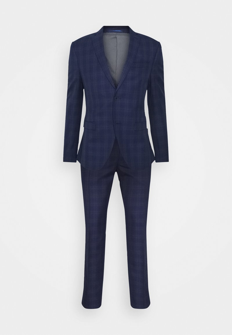 Isaac Dewhirst - CHECK SUIT - Oblek - blue