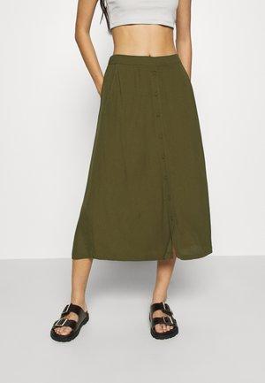 MAISA - Áčková sukně - dark olive