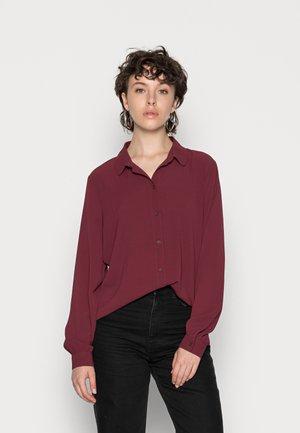 JDYBROOKE SHIRT - Button-down blouse - windsor wine