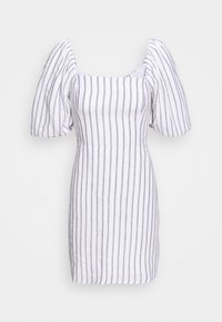 Abercrombie & Fitch - SMOCKED MINI - Day dress - white/blue - 3