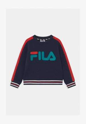 ALESSIO LOGO CREW - Sweatshirt - black iris/true red
