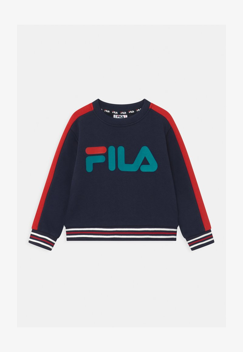 Fila - ALESSIO LOGO CREW - Bluza - black iris/true red
