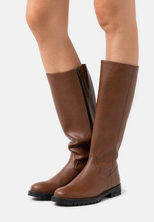 LOU VEGAN - Boots - brown