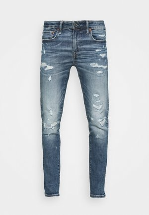 MEDIUM MENDED CROPPED - Jeans Skinny Fit - empire blue