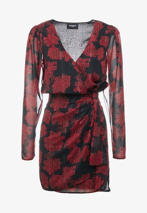 ROBE COURTE - Cocktail dress / Party dress - red/black