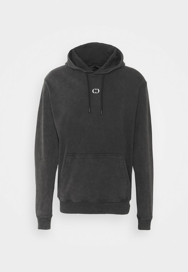 GALAXY HOOD UNISEX - Felpa aperta - washed black