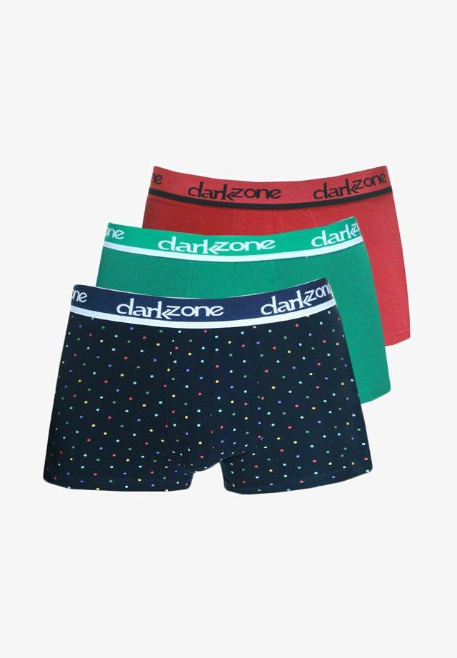 3 PACK - Pants - rot/grün/navy