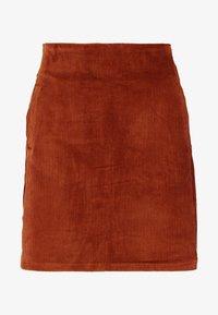 WELT SKIRT - Pencil skirt - chocolate