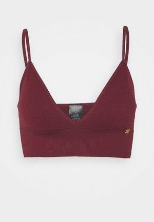 SEAMFREE LONG LINE BRALETTE - Triangle bra - burgundy