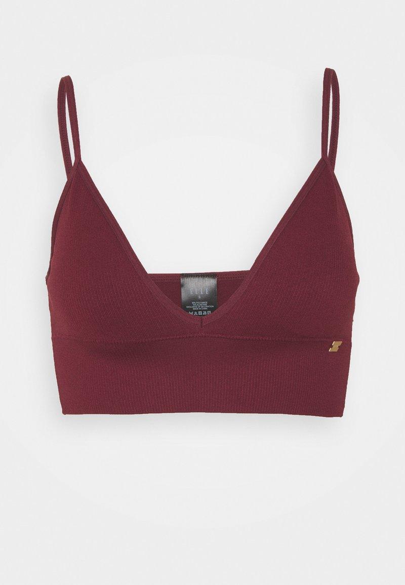 ELLE - SEAMFREE LONG LINE BRALETTE - Triangle bra - burgundy