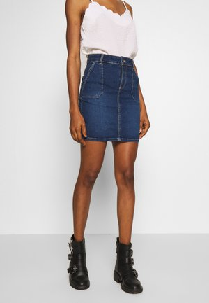 ONLANNEK WORKER SKIRT - Denim skirt - medium blue denim
