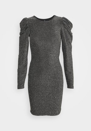 ONLDARLING GLITTER PUFF DRESS - Cocktailkjoler / festkjoler - black/silver