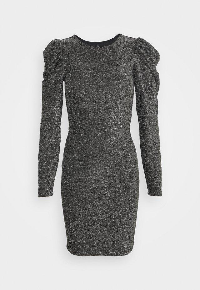 ONLDARLING GLITTER PUFF DRESS - Cocktailkjole - black/silver