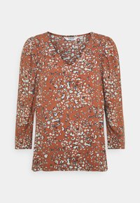 b.young - FLAMINIA LEO BLOUSE - Long sleeved top - etruscan red - 0