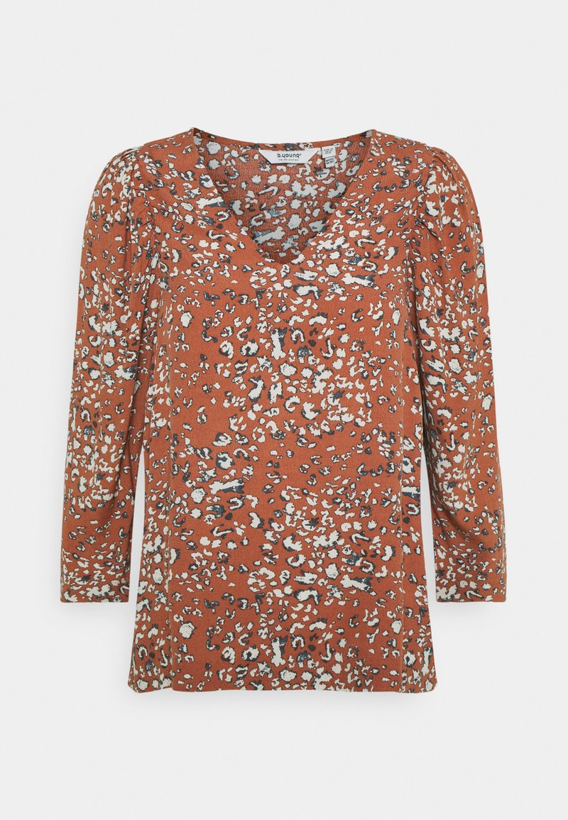 b.young - FLAMINIA LEO BLOUSE - Long sleeved top - etruscan red