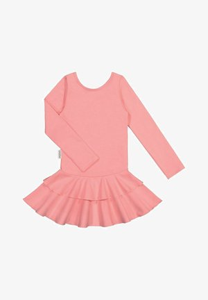 LONG SLEEVED DRESS FRILLA - Day dress - pastel coral