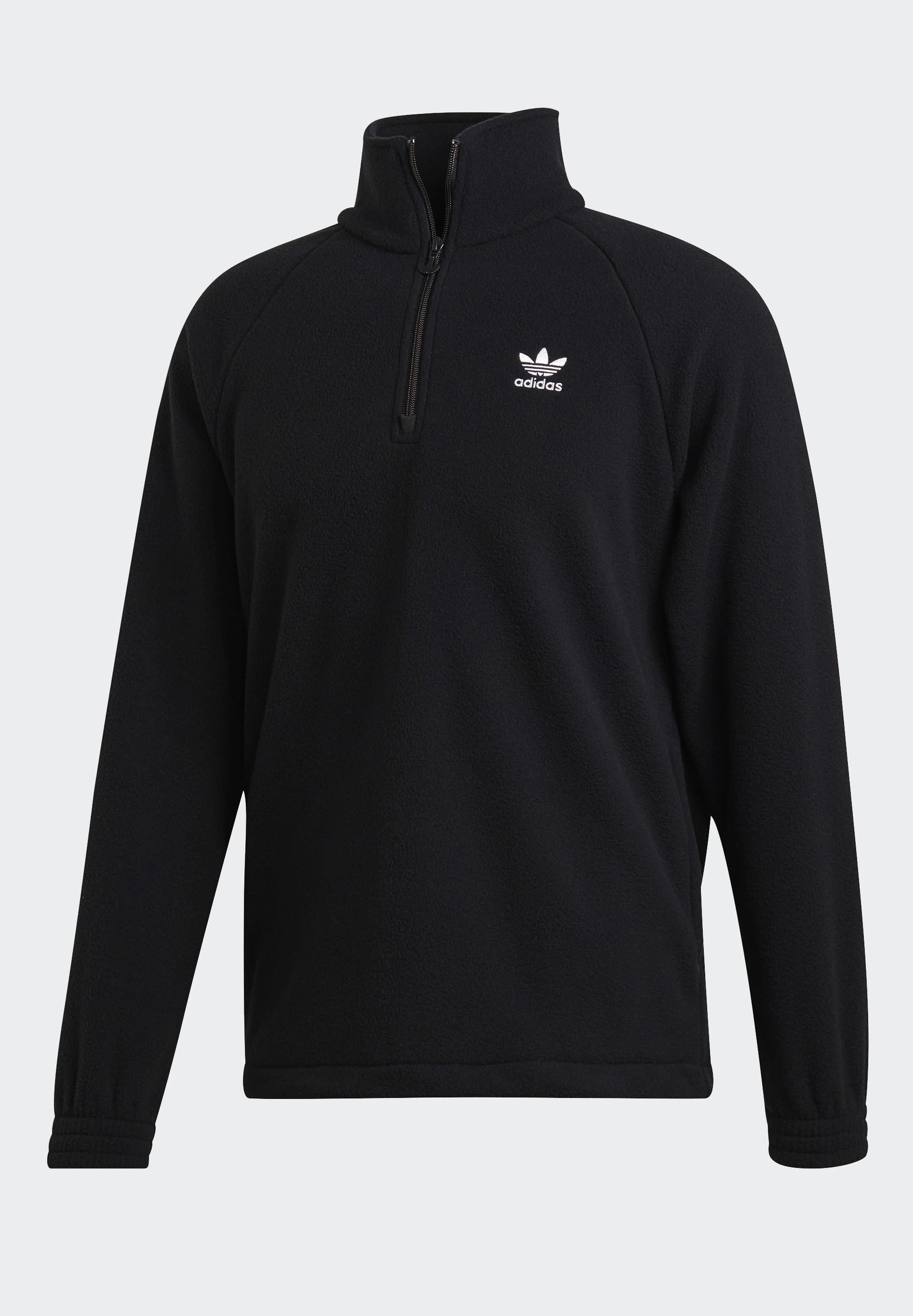 Adidas Originals Adicolor Polar Fleece Half-zip Sweatshirt - Kurtka Sportowa Black
