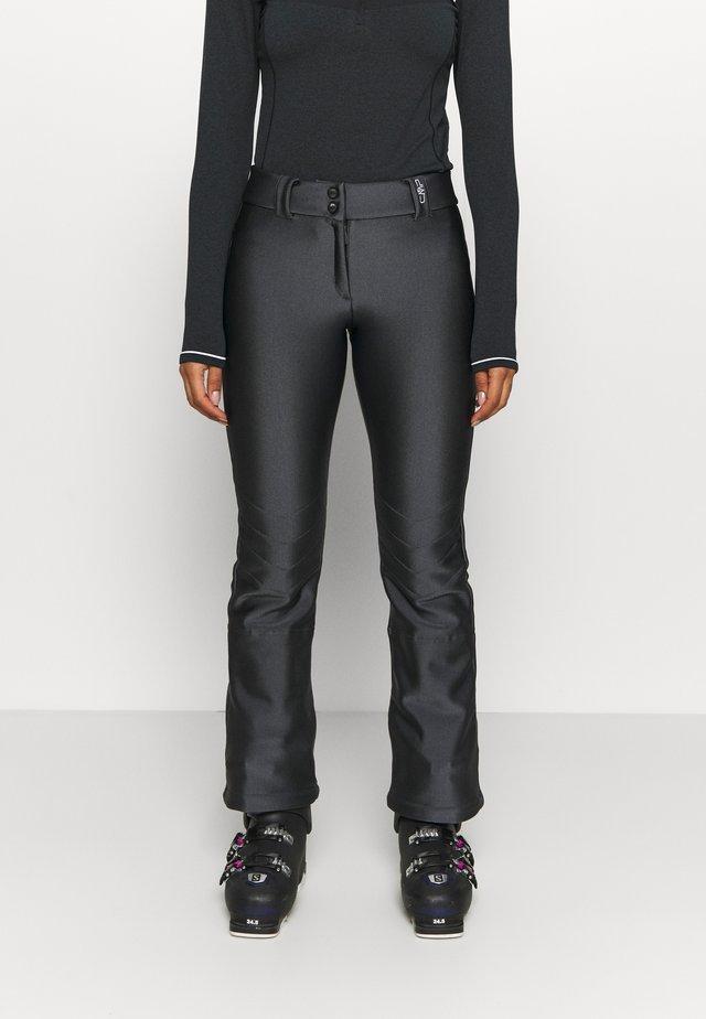 WOMAN LONG PANT WITH INNER GAITER - Talvihousut - acciaio