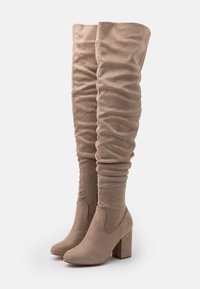 Even&Odd Wide Fit - High heeled boots - taupe - 2