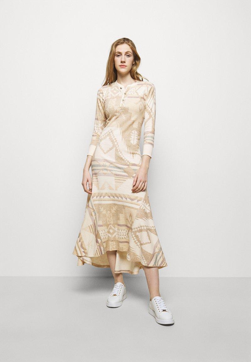 Polo Ralph Lauren - NOVELTY TEXTURE - Jumper dress - beige/multicoloured