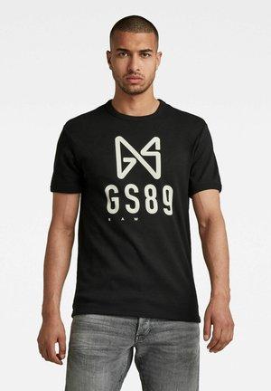 BUTTERFLY LOGO - T-shirt con stampa - dk black