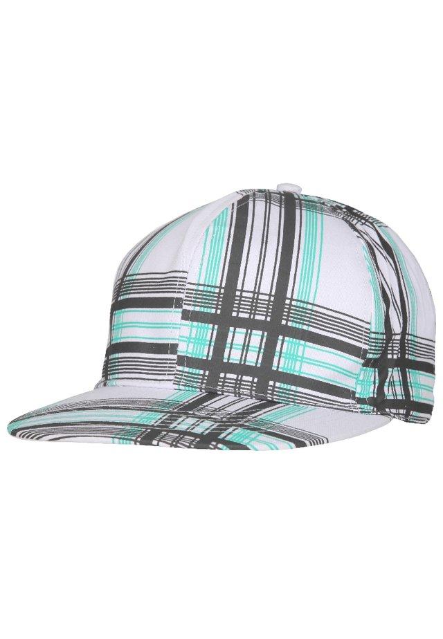 Cappellino - grau/mint gestreift