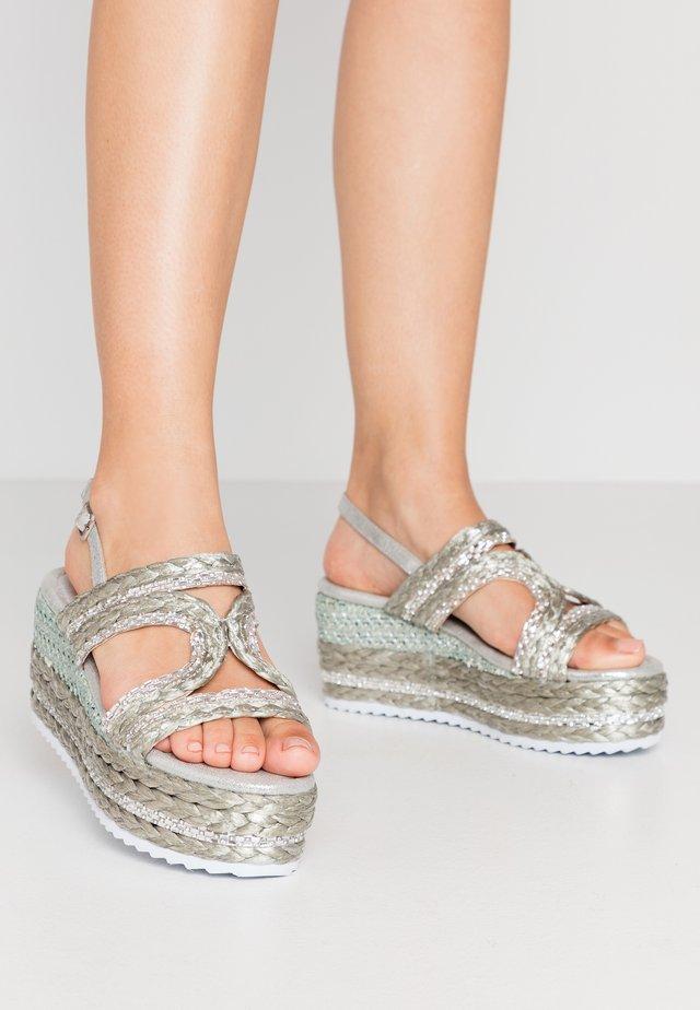 Espadrilles - argento